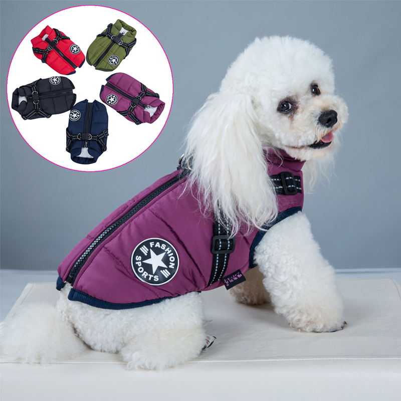 Pet Harness Vest Clothes Puppy Clothing Waterproof Dog Jacket Winter Warm Pet Clothes For Small Dogs Shih Tzu Chihuahua Pug Coat 1
