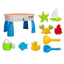 Water-Table-Set Sandbox-Kit Beach-Toys Garden Toddlers Outdoor Kids with Lid-Cover Summer