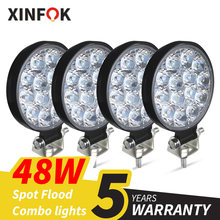 Car LED Work Light 3030 SMD 27 Watts 48 Watts DC 12-24 Volts Bright Flood Spotlights Truck 4x4 4WD