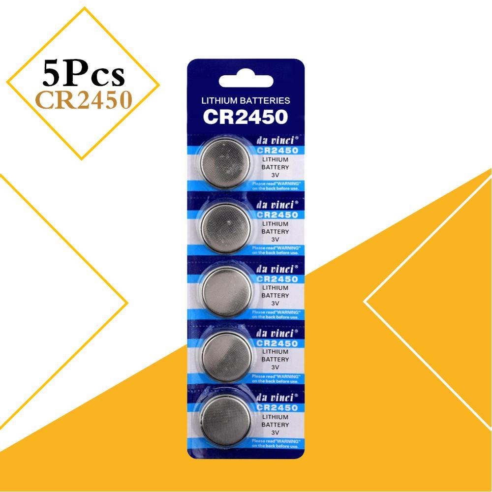 Аккумулятор кнопочный CR2450 5029LC KCR2450 LM2450, литиевая батарея монетного типа 3 в CR 2450 для часов, электронных игрушек, дистанционного ключа