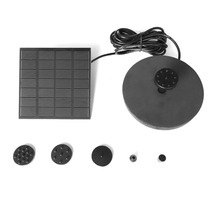 1.2W Solar Panel Power Water Pump Kit for Pool Garden Pond Birdbath Fountain Submersible Watering Pump With Floating Ring high quality solar water panel power fountain pump kit lotus leaf floating pump pool garden pond watering submersible pumps