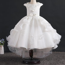 Flower Girls Dress Summer Elegant Princess Dress Kids Dresses For Girls Wedding Party Gown Children Clothing 3 6 8 9 10 12 Years(China)