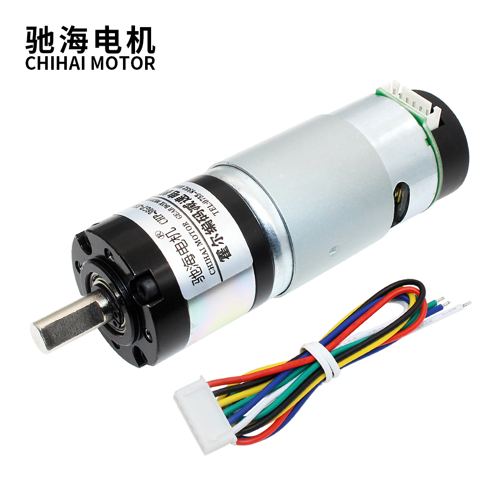 Chihai Motor CHP-36GP-555-ABHL planetary Geared Motor With Encoder High Torque In DC Motor With Back Cover