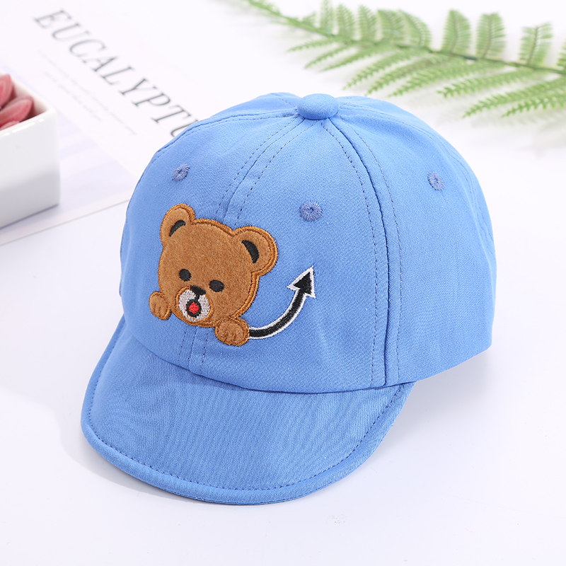 H6a504a609f4c4faf9389e3ec3d976b59m - Baby Hat Cute Bear Embroidered Kids Girl Boy Caps Cotton Adjustable Newborn Baseball Cap Infant Toddler Beach Outdoor Sun Hat