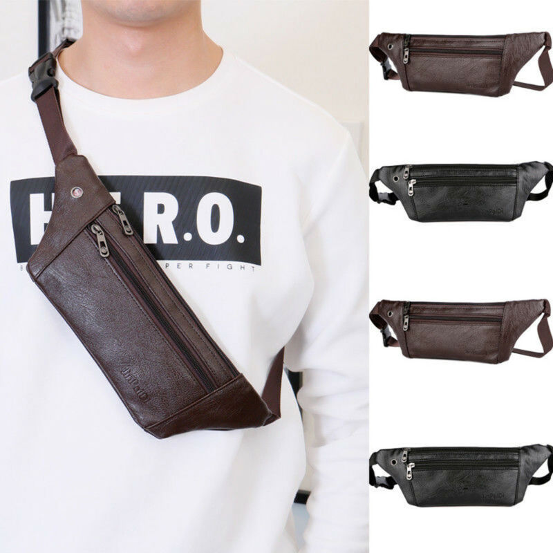 2020 New  Fashion Men Banana Waist Fanny Pack Belt Bag Pouch Travel Hip Bum Bag Small Purse Adjustable Holiday Money Belt Bag
