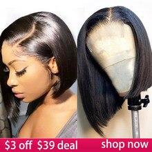 4x4 fechamento do laço bob peruca perucas de cabelo humano 8