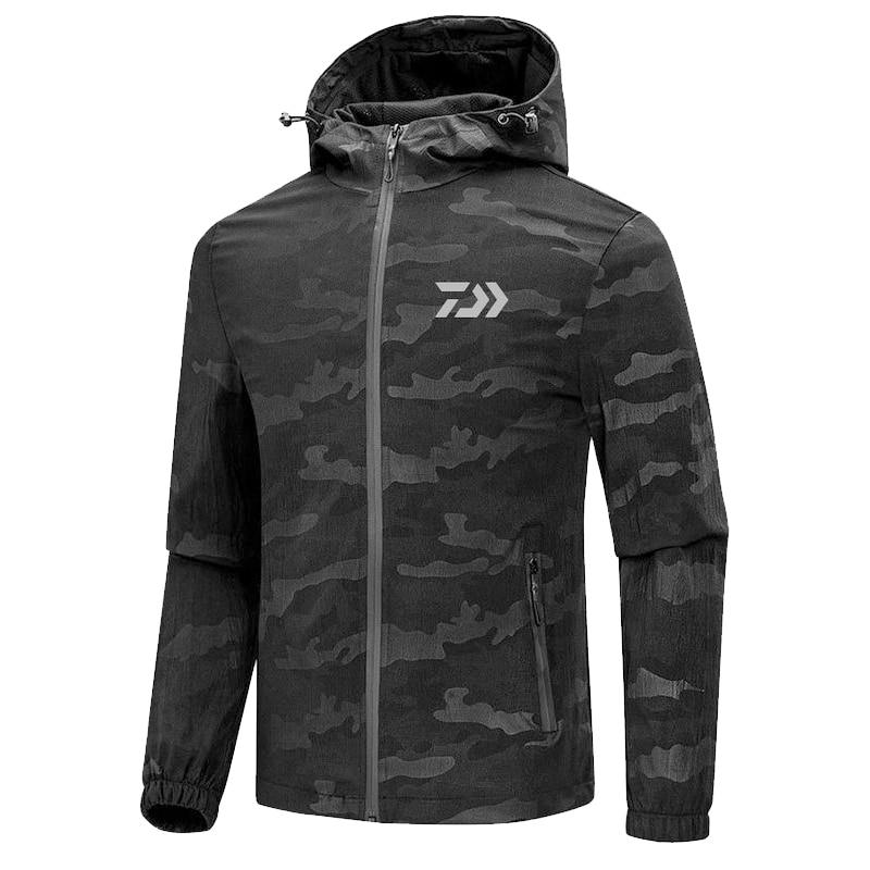2019 printemps automne homme Dayiwa vêtements de pêche veste en plein air imperméable mince pêche escalade Camping costume Pesca Ropa Hombre