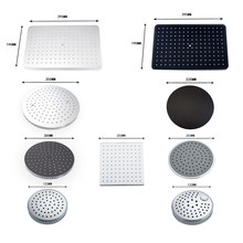 8/10/12 inch Big Rain Shower Head ABS Plastic Square and Round Top Shower Head Over-head Shower Sprayer Chrome and Black