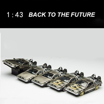 1/43 scale returns to the future Part 1 2 3 time machine DeLorean DMC-12 metal alloy car die casting model toy gift collection