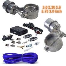 Exhaust Cutout Vacuum Pump Vacuum Valve Control Unit with 2pcs Exhaust Vacuum Control Solenoid Valve with remote Control