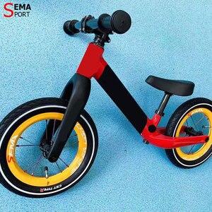 Image 5 - Karbon tekerlek SEMA SL170 karbon tekerlek 12 inç süper hafif tekerlekler SKF seramik rulman çocuklar için denge bisikleti titanium konuşmacı