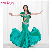 Women luxury Belly Dance dress For Girls Stage Suit Lady Competition Set Costume sexy oriental dance Fishtail