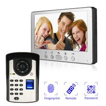 купить 7 inch wired video door phone home security system doorbell intercom kit infared night vision онлайн