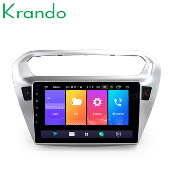 Krando Android 9.0 10.1 IPS Full touch car Multimedia player for PEUGEOT 301 / Citroen Elysee navigation system gps No 2din DVD image