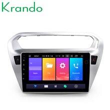 "Krando Android 9,0 de 10,1 ""IPS táctil completa reproductor Multimedia para auto PEUGEOT 301/Citroen Elysee sistema de navegación gps No 2din DVD"