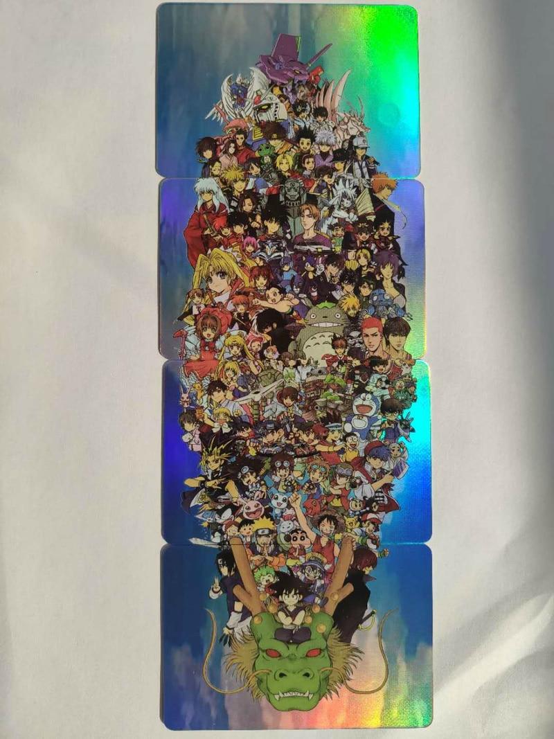 4pcs/set Big Collection Of Childhood Cartoons Dragon Ball Z Super Saiyan Goku Vegeta Game Collection Cards Free Shipping