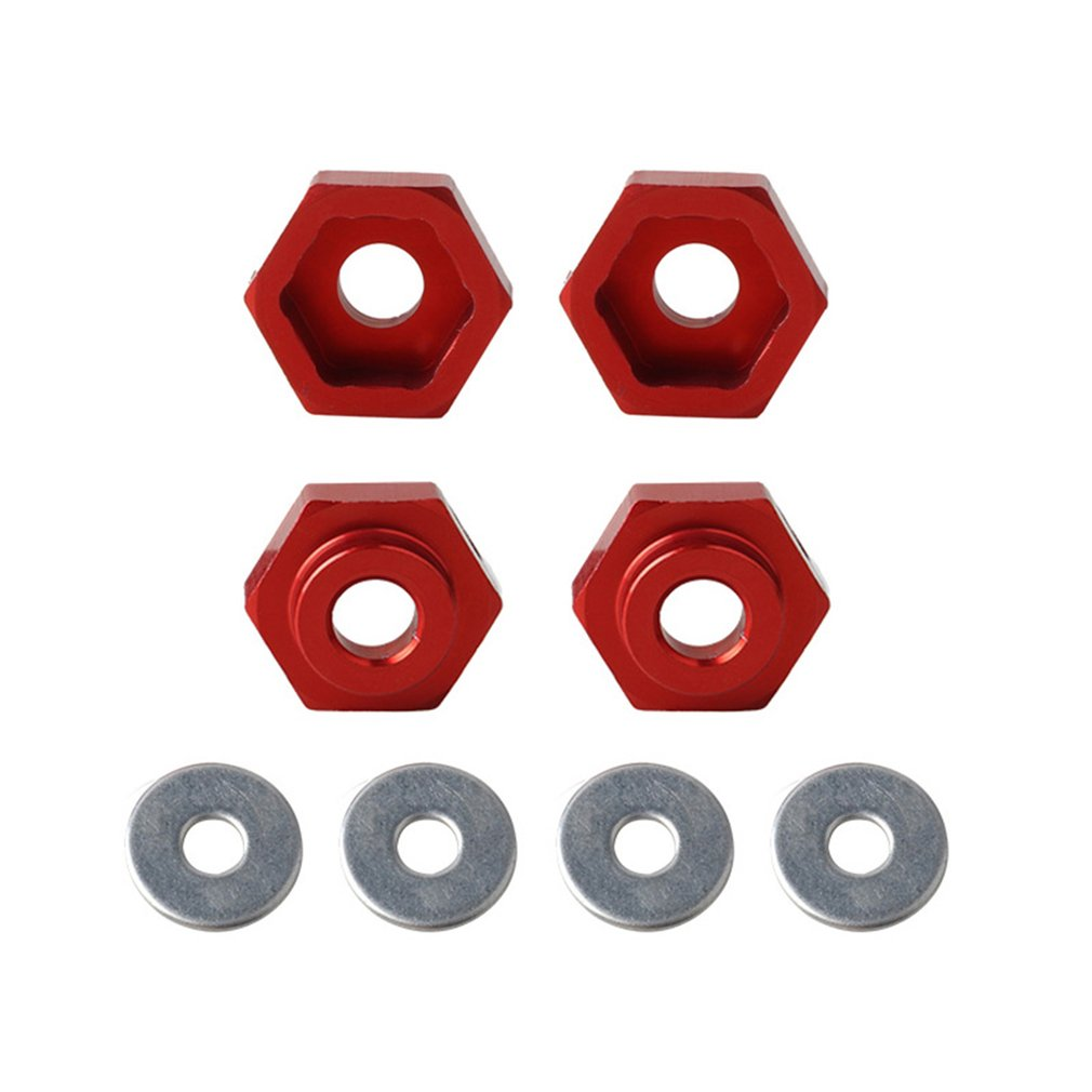 4 PCS <font><b>Wheel</b></font> Adapters 1/10 Retrofit <font><b>1/8</b></font> <font><b>Wheel</b></font> Rim Hex 12MM To <font><b>17MM</b></font> Conversion Combiner For HSP <font><b>RC</b></font> Car Buggy Monster Bigfoot Truck image
