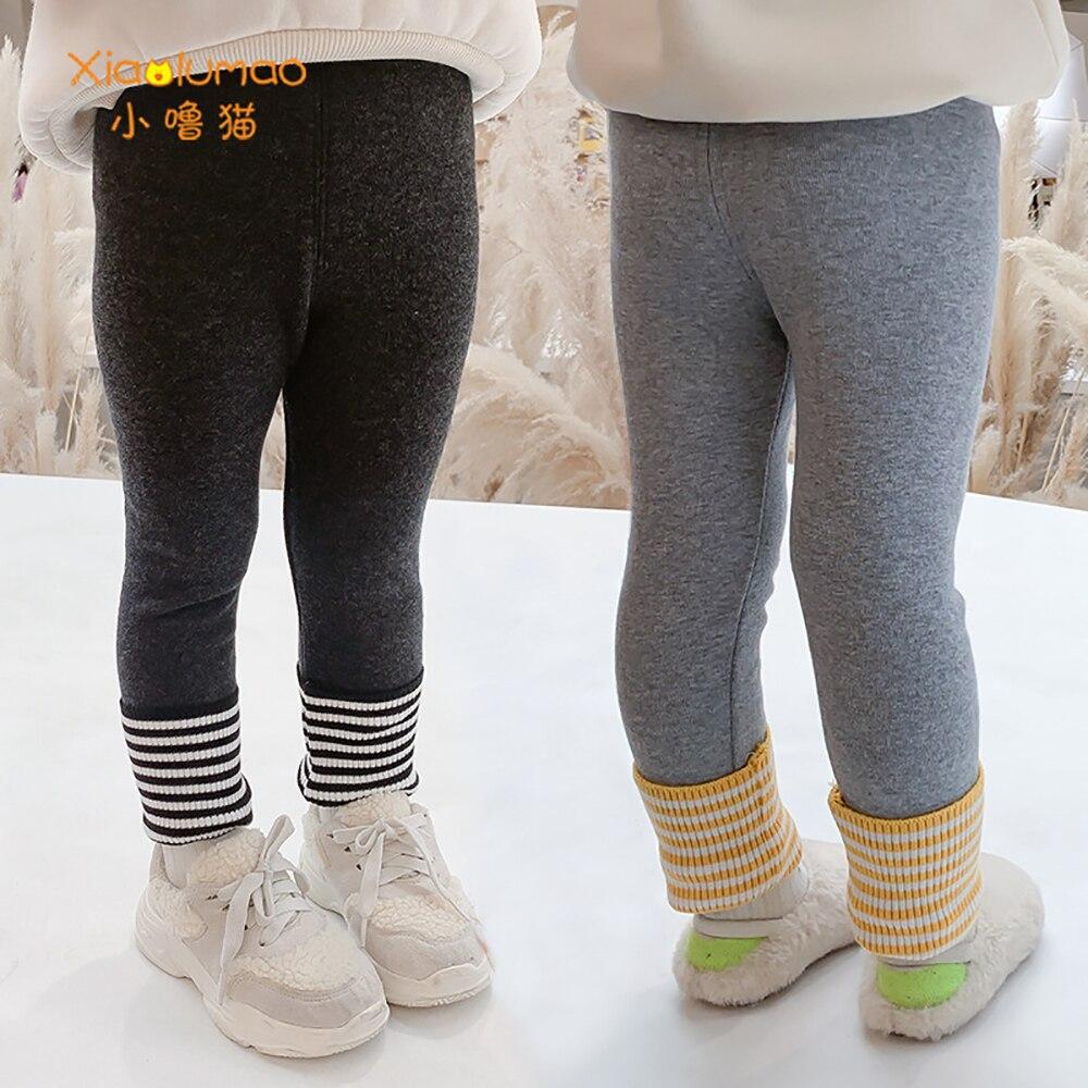 Купить леггинсы xiaolumao для девочек зимние утепленные флисовые бархатные