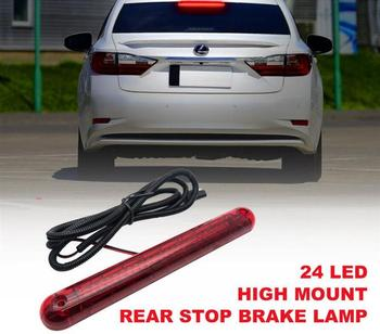 Red 24 LED 12V Auomotive Car High Mount Stop Lamp Third 3rd Brake Light Tail Led Lights Strip