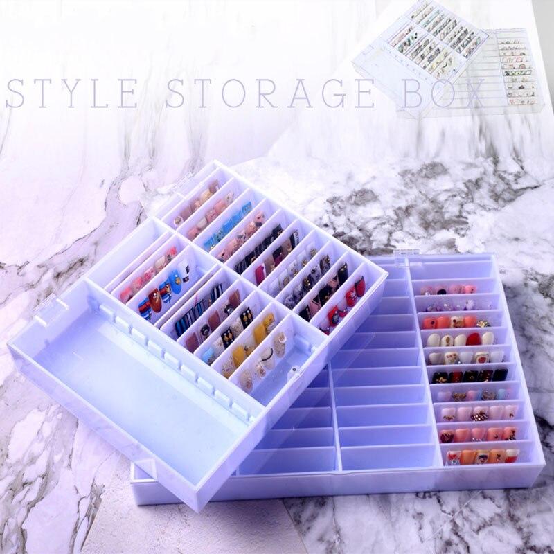 Fake Nail Tips Color Storage Box Nail Art Display Nail Decoration Storage Box For Nail Art Decoration Container Display