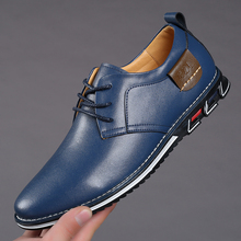 2020 New Big Size 38-48 Oxfords Leather Men Shoes Fashion Ca