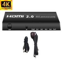 Receptor Switcher 4-Porta Hdmi 4x1 4-Em-1 Selector Caixa-De-Interruptor-Com Fora 60hz