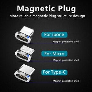Image 5 - Yuvarlak manyetik fiş mikro USB C/tipi C / 8 Pin iPhone adaptörü için USB mıknatıs şarj tak hızlı şarj (sadece manyetik fiş)