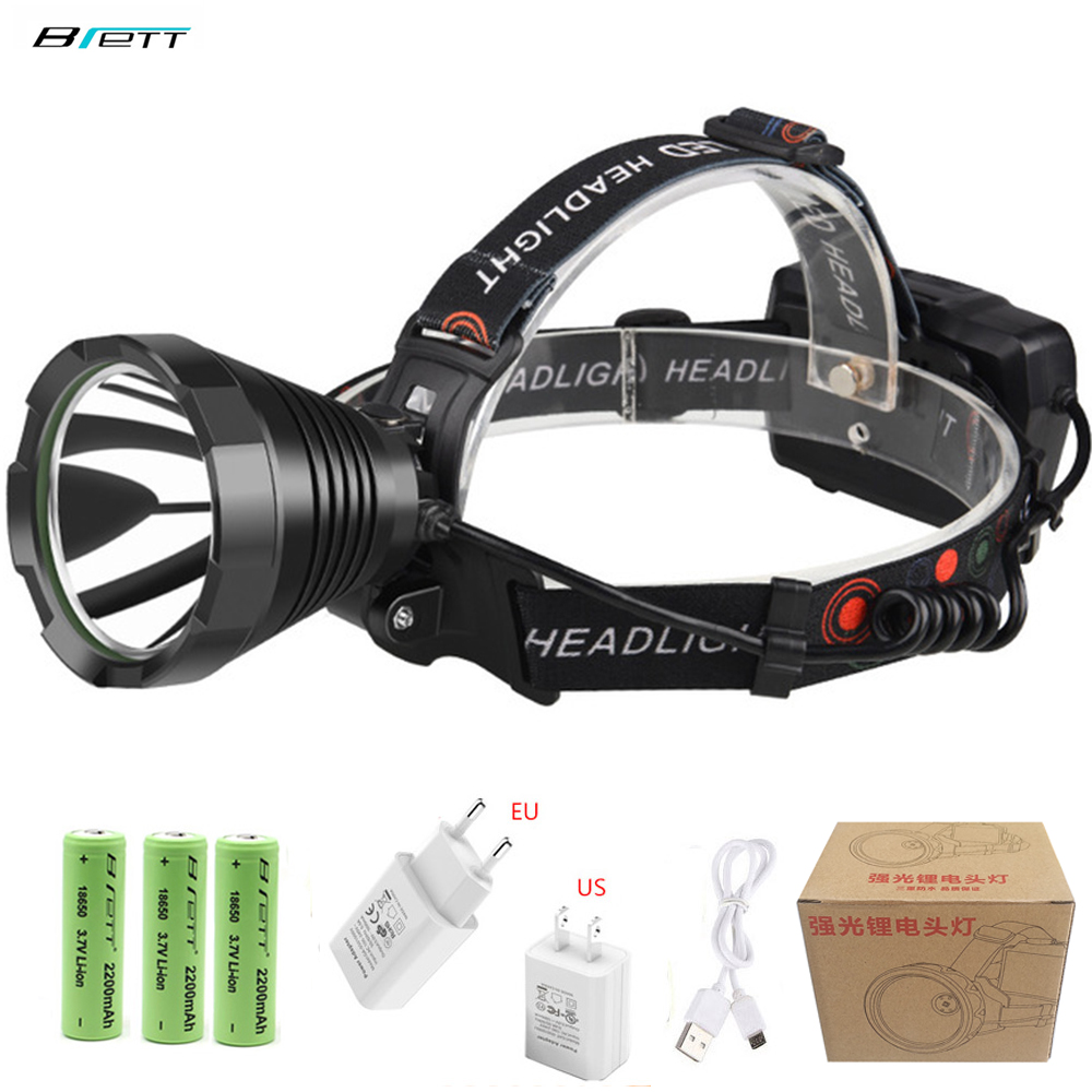 LED Headlamp Cree Xhp70 Super T40 T20 Headlight Use 18650 Battery Rechargeable Camping Fishing Waterproof Bike Head Torch