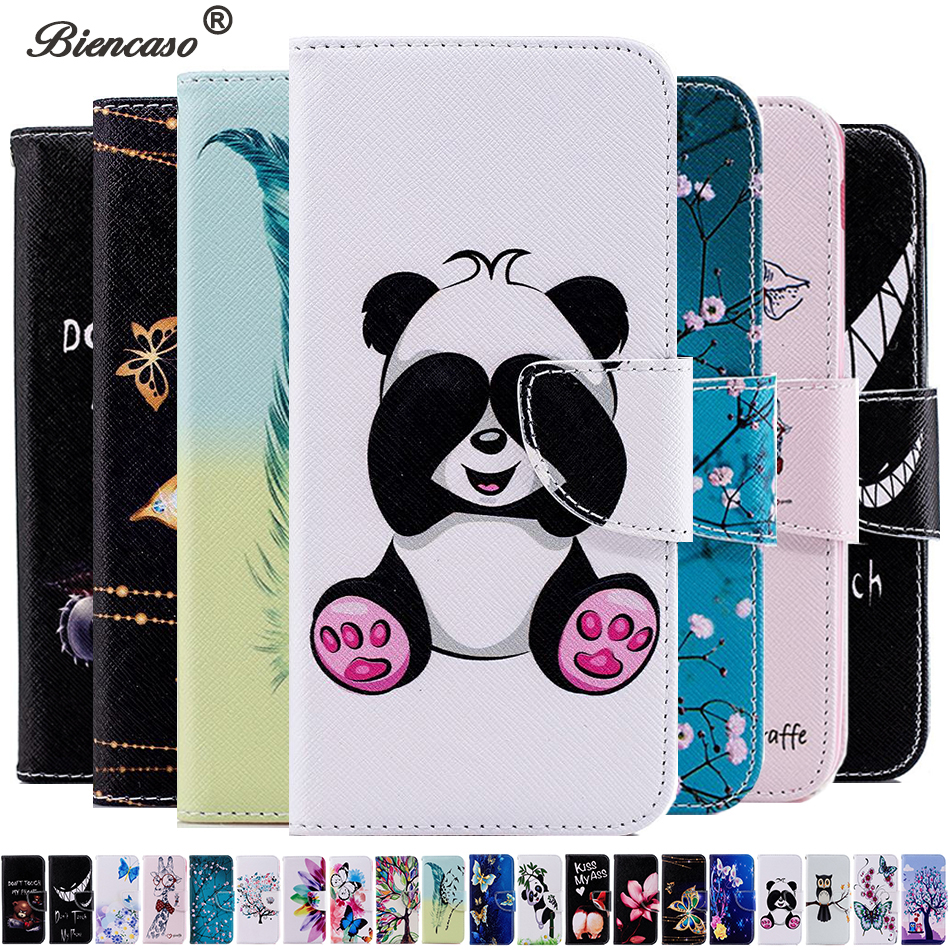 Biencaso Butterfly Owl PU Leather Wallet <font><b>Flip</b></font> <font><b>Case</b></font> for Huawei Y5 Y6 2018 P40 Pro P30 Lite P9 Lite <font><b>Honor</b></font> <font><b>7S</b></font> 7A Pro Back Cover Bag image