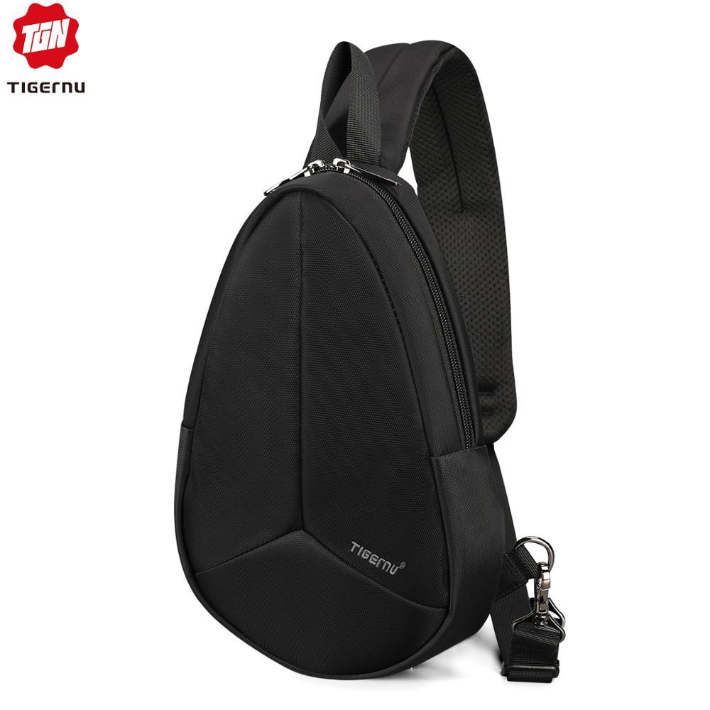 Tigernu New Arrival Men Fashion Chest Bag For Male Crossbody Bag Waterproof Nylon Messenger Bags High Quality Sling Bags Female    -