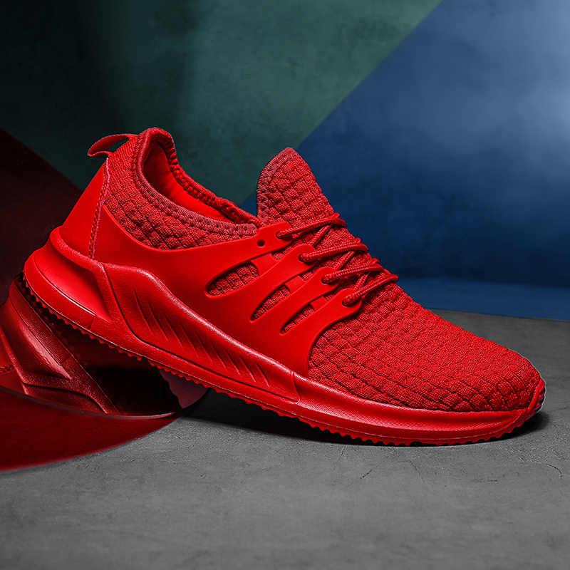 Erkek spor ayakkabı koşu ayakkabıları erkekler nefes spor egzersiz koşu spor Sneakers eğitim atletik ayakkabı eğitmenler erkek ayakkabı