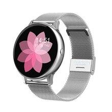 Inteligentny zegarek kobiety tryb multi sport Smartwatch z pulsometrem ciśnienie krwi tlen zdalna muzyka dla IOS Android VS S20
