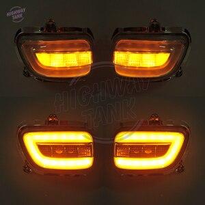 Image 5 - Duman LED motosiklet ön yan dönüş sinyal ışıkları flaşör için Honda Goldwing GL1800 F6B 2001 2017