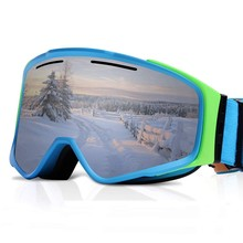 Ski HD Mirror Goggles Double Anti-fog Mask Glasses Skiing Men And Women Snowboard Removable Magnet