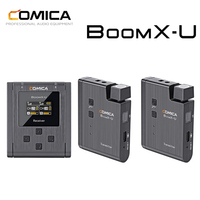 Comica BoomX U U2 Omnidirectional Wireless Microphone Set 3.5mm TRS Broadcasting Level Multi functional Mini UHF Mic
