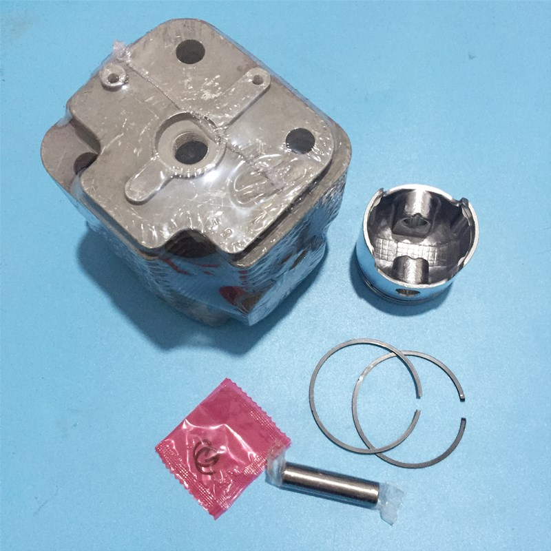 Cylinder Piston Kit 48mm With Gasket Fits Chinese 1E48F 48F 63CC 2 Stroke Engine Motor Earth Auger Power Drills Parts