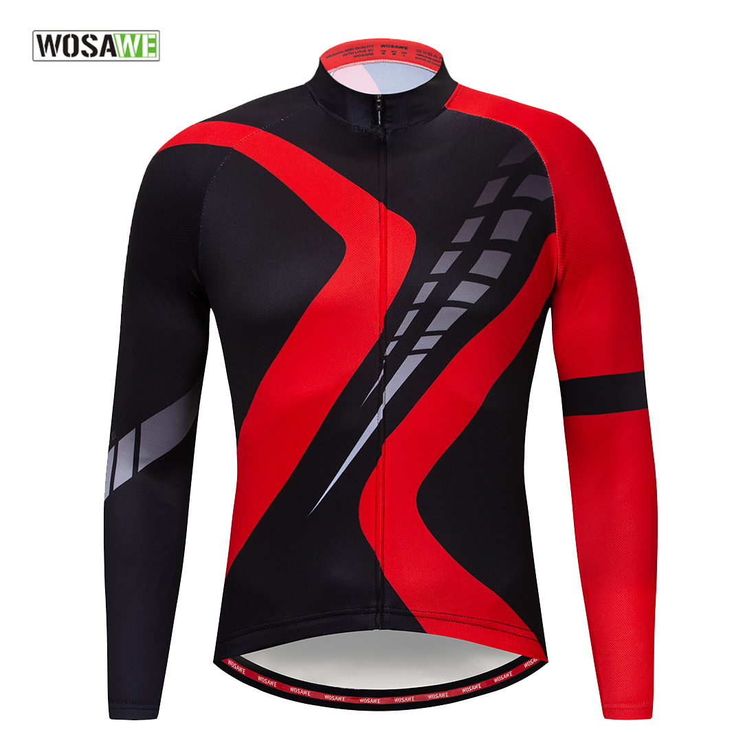 WOSAWE Long Sleeve Men's Cycling Jersey Breathable Autumn Cycling Bicycle Clothing Quick-Dry Mountain Road MTB Bike Clothes title=