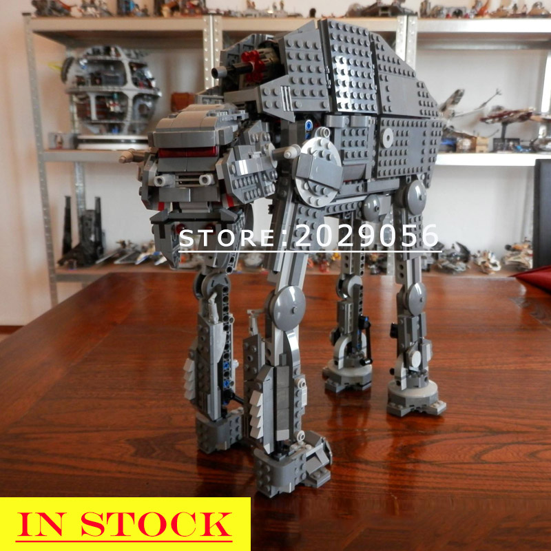 10908 05130 In Stock Star Series Wars First Order Heavy Assault Walker Building Block Bricks Toys Gifts Moive Compatible 75189