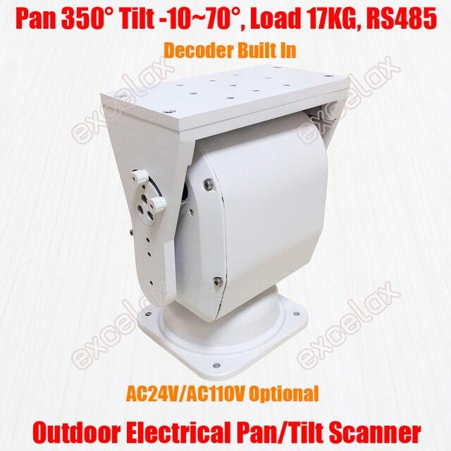 Dispositif décodeur PTZ, appareil décodeur électrique PTZ, robuste, avec 17KG de charge IP66, prise en charge de caméra RS485, horizontale et verticale pour lextérieur