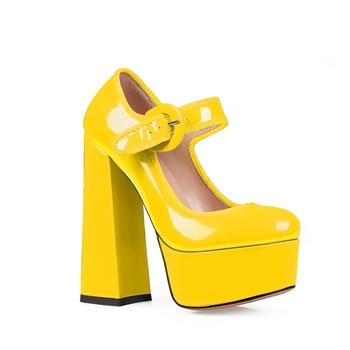 Wetkiss Ψηλοτάκουνα γυναικεία παπούτσια στυλ mary jane με φιάπα