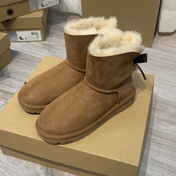 Basic Ribbon Bow Sheepskin All-in-one Snow Boots Warm Waterproof Pollution-proof and Coldproof women snow boots