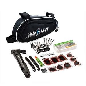 SAHOO MIX in 1 набор инструментов для велоспорта, набор для ремонта велосипеда с мешочным насосом, черные Аксессуары для велосипеда, инструмент д...