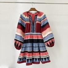 Женское Хлопковое платье в стиле пэчворк подиумное дизайнерское