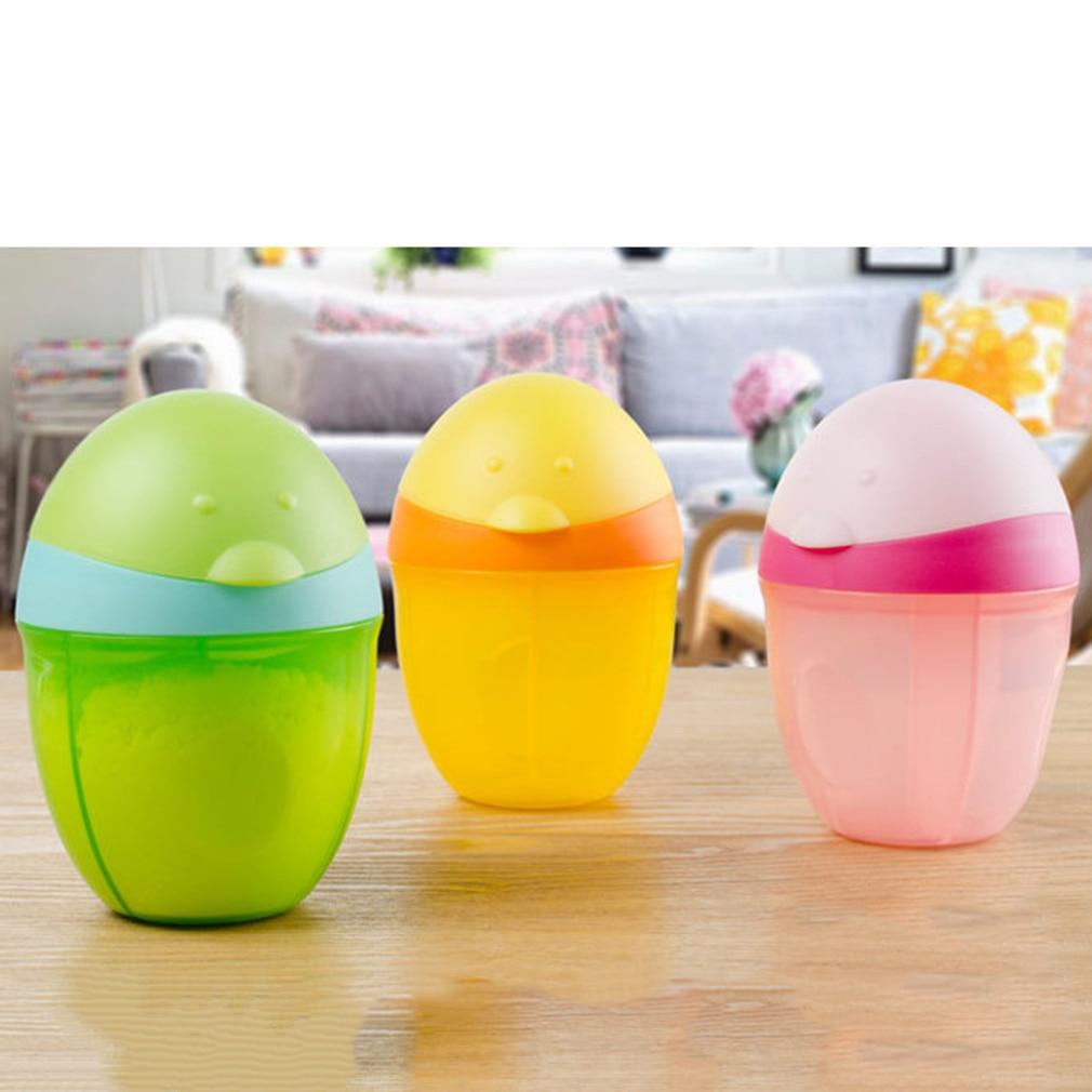 Cartoon Penguin Baby Milk Powder Box Portable Three-Layer Formula Dispenser Food Container Storage Feeding Box