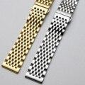 Curved End Uhr Band 12mm 14mm 16mm 18mm 19mm 20mm 22mm Ersatz Uhr strap Verschluss Edelstahl Armband mit Werkzeuge