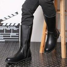Черные армейские ботинки мужские высокие военные Полусапоги на молнии, мужские однотонные мотоциклетные ботинки до середины икры в стиле панк мужские кожаные высокие ботинки 37-46