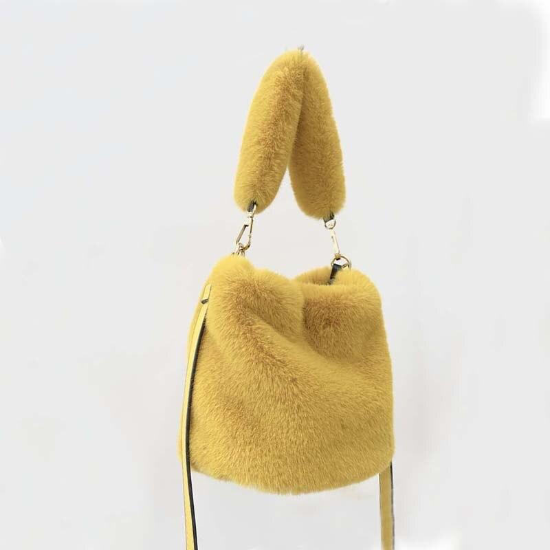 Plush Bags For Women 2019 Winter Faux Fur Crossbody Pack Handbag Women Casual Fur Shoulder Bags Bolsa Feminina