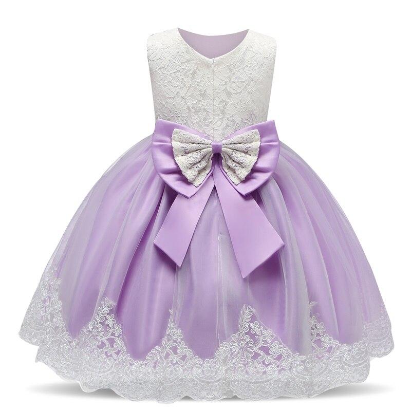 Vestido de cumpleaños para niña pequeña, traje de princesa 1er para fiesta de cumpleaños, traje de bautismo, Vestidos con lazo
