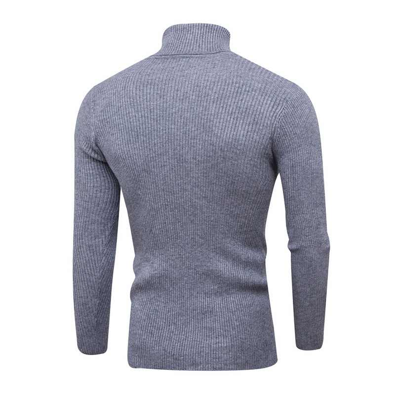 Men's Turtleneck Sweaters  Autumn Winter Warm High Quality Knit Christmas Sweater Top Casual Long Sleeve Homme Male Pullover