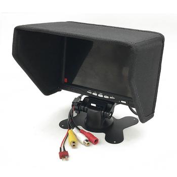 5 8G Monitor FPV ekran wideo 7 Cal 1024 #215 600 kolorowy wyświetlacz TFT LCD z sunhood 500CCD mm dla dron zdalnie sterowany FPV Quadcopter samolot tanie i dobre opinie SKYRC 7 Inch FPV Monitor 363g 182 x 127 x 32mm WALKERA(dianzi)